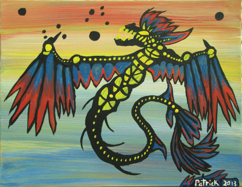 Rainbow Dragon Fishing for Stars